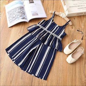 Toddler Girl Striped Matching Clothing Set